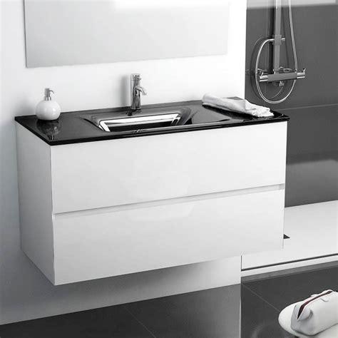Incroyable Meuble Salle De Bain Double Vasque Castorama #2: meuble-salle-de-bain-101-cm-blanc-brillant-vasque-verre-noir-kyoto-l.jpg