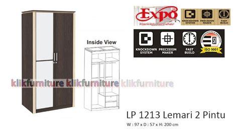 Lemari Pakaian Minimalis 2pintu Sucitra Lp 1522 lp 1213 expo lemari pakaian 2 pintu agen termurah