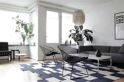 blanc arredamento design chic ou un salon noir et blanc unique design feria