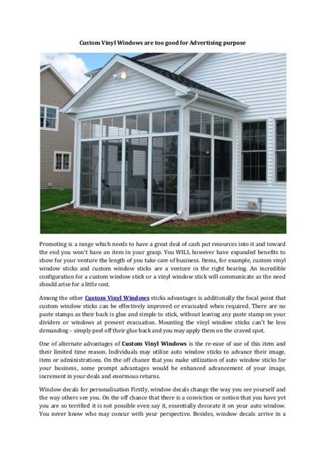 Vinyl Modified Mba by Custom Vinyl Windows Are For Advertising Purpose