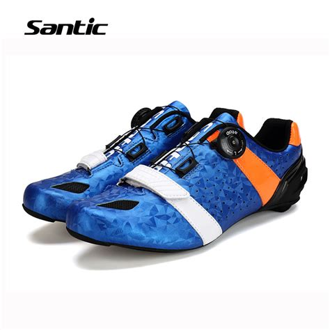 lightest road bike shoes santic road cycling shoes ultralight carbon fiber sole