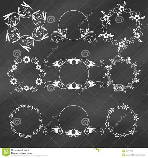 floral design elements vector set set of decorative floral design elements stock vector