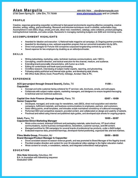 sle of a resume nj sales resume