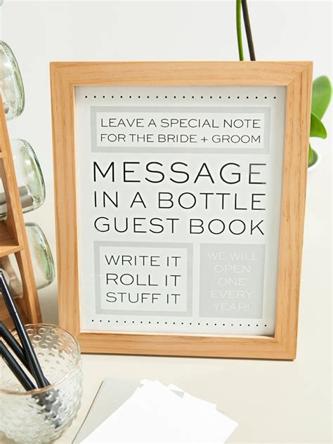 Wedding Wishes Bottle by Check Out This Diy Message In A Bottle Guest Book