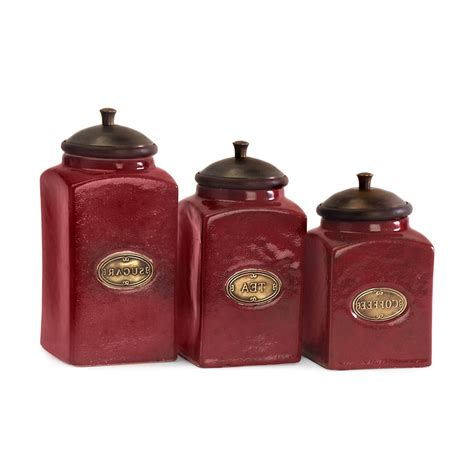 red kitchen canister red canister set for kitchen kenangorgun com