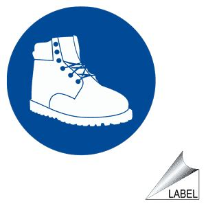 safety shoes symbol label label circle 36 b ppe foot