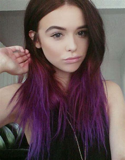 ideas  dip dyed hair  pinterest colored