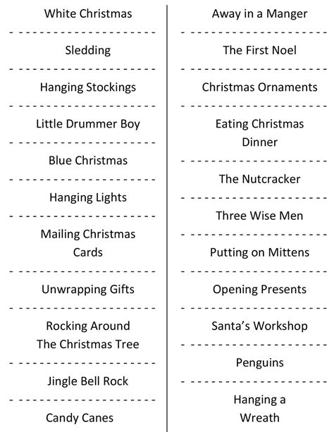4 best images of christmas charades free printable christmas charades free printable party game