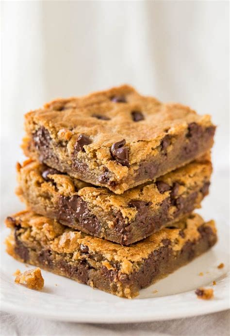 Peanut Butter Bars With Chocolate Chips Melted On Top by Peanut Butter Chocolate Chip Bars Recipe