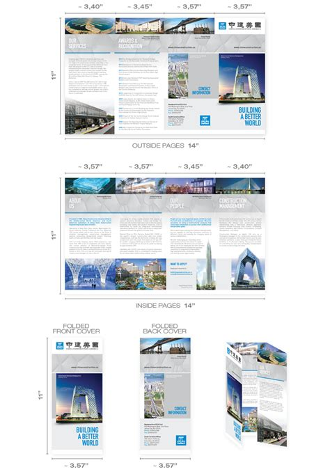 roll fold brochure designs designers templates sizes