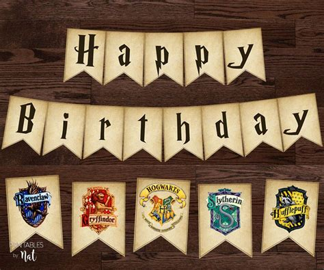 harry potter happy birthday sign banner bunting
