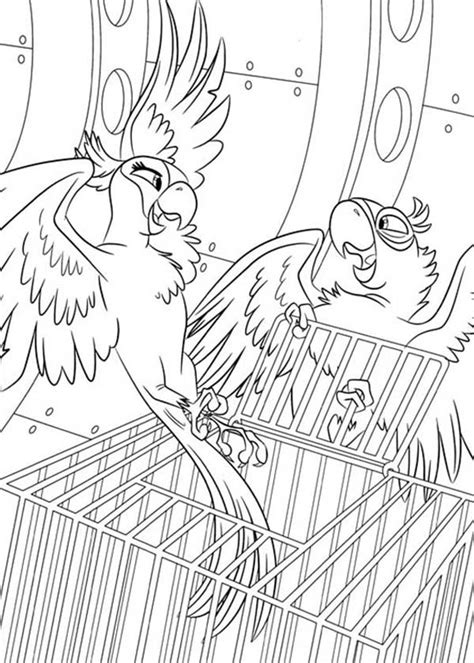 jewel rio coloring pages