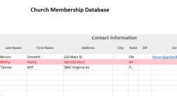 Church Membership Database And Dues Tracker Excel Template Expiration Reminder Membership List Excel Template