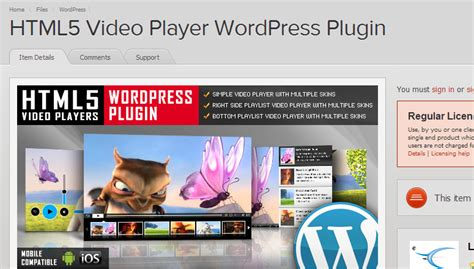 Html5 Player Template by Html5 Plugin Top 20 Html5
