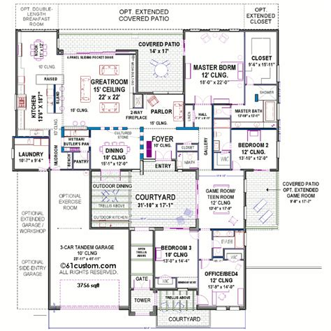 center courtyard house plans modern courtyard house plan courtyard house plans
