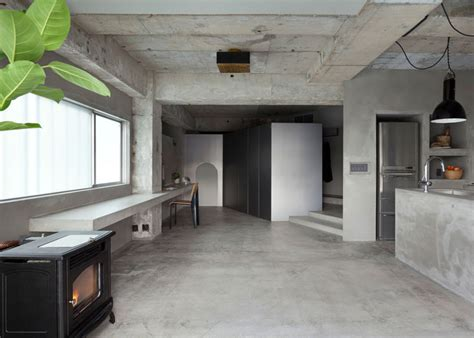 concrete apartment soak in design concrete apartment by airhouse design office displays clothing
