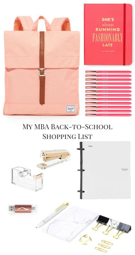 Mba Shopping List what s on my mba back to school shopping list glitter
