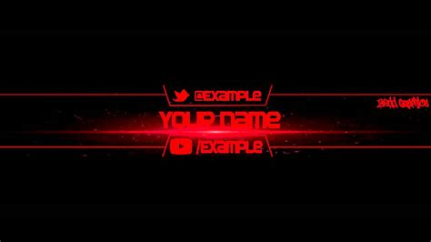 Free Yt Banner Template 1 Youtube Yt Banner Template