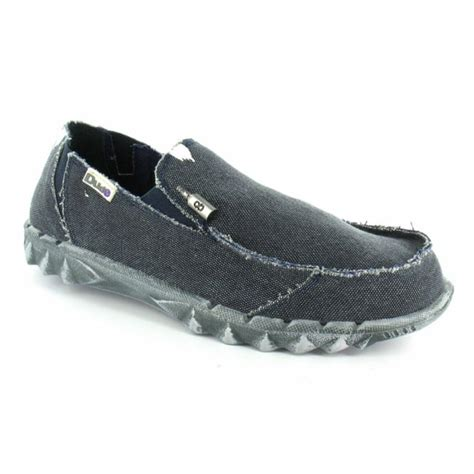 hey dude farty mens vintage canvas slip on shoes navy blue
