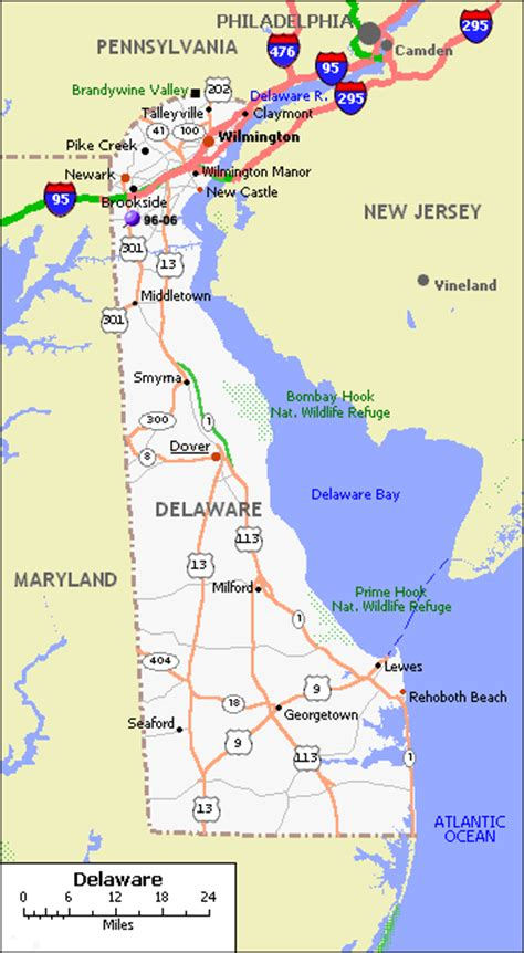 city map of delaware delaware map and delaware satellite images