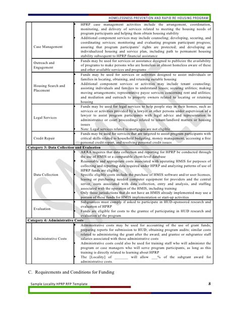 housing stability plan template locality hprp rfp template