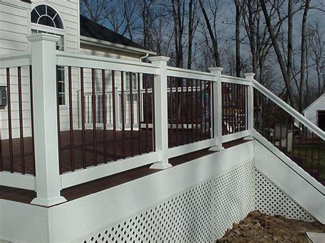 White Deck Railing With Black Balusters Smoot Decks Designs Inc