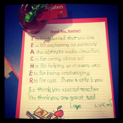 appreciation gift letter teaching appreciation and gift cards on