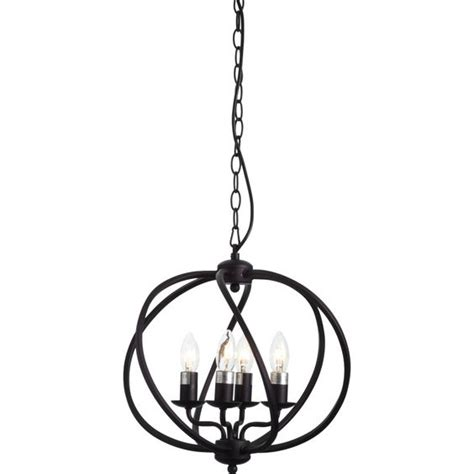 Chandelier Sign Small Orb 4 Light Chandelier Antique Brown 199 33x33cm