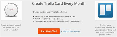 trello make template card recurring cards on a monthly basis in trello web