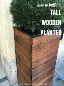 Tall Concrete Planters by Vive La France Build A Tall Wooden Planter Planters