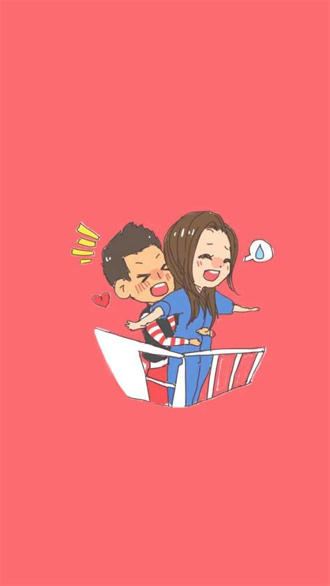 wallpaper cute korean couple titanic korean cartoon running man iphone wallpaper