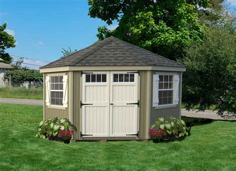 10x10 Shed Kit by Cottage Company 10x10 Colonial Five Corner Wood