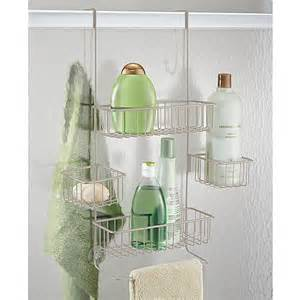 shower caddy door interdesign metalo the door shower caddy walmart