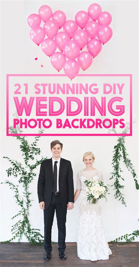 Wedding Backdrop Do It Yourself by 21 Stunning Diy Wedding Photo Booth Backdrops Wedding