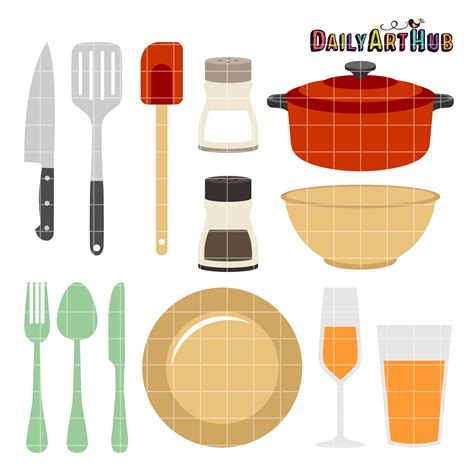 everything and the kitchen kitchen things clip art set daily art hub free clip