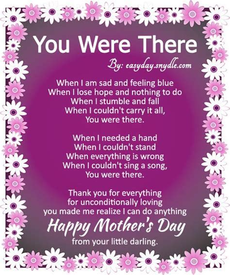 happy mothers day poems image   Easyday