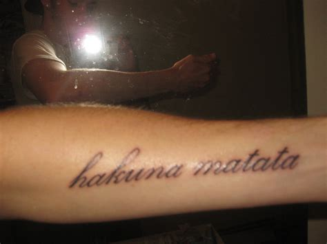 hakuna matata tattoo hakuna matata tattoos designs ideas and meaning tattoos
