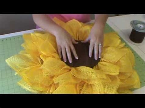 How To Make Sunflowers Out Of Tissue Paper - trendy tree deco paper mesh sunflower tutorial