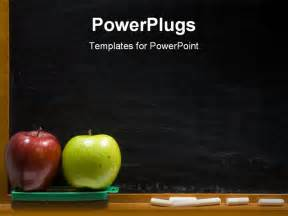 free downloadable powerpoint templates for teachers rea and green apple on chalkboard ledge at school add