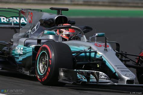 formula 1 test george test the halo mercedes hungaroring 2017