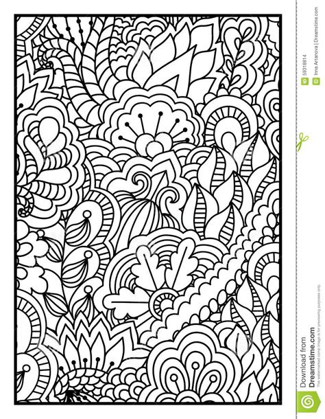Pattern For Coloring Book Black And White Background With Coloring Books For Teens L