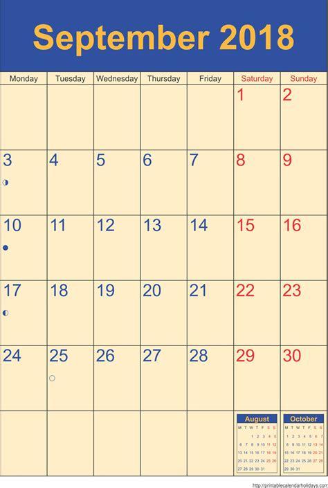 september  calendar template portrait printable calendar template