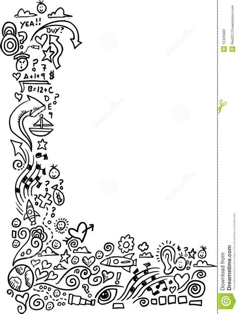 how to draw doodle borders doodle sketch border stock photography image 12429982