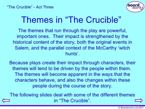 themes and symbols of the crucible the crucible essay themes