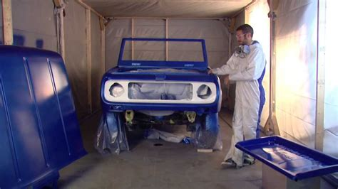 spray painting sop dupli color 1969 scout restoration series episode 13