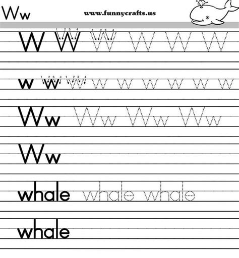 Alphabet Worksheets For Grade by Letter W Handwriting Worksheets For Preschool To