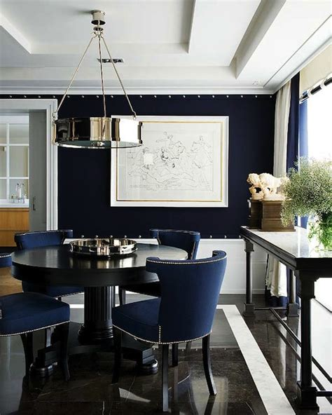 Dining Room Ideas Blue Walls Navy Blue Dining Room Contemporary Dining Room Nuevo