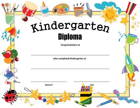 kindergarten certificate template free kindergarten certificate templates at