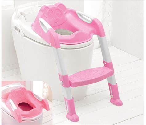 baby toddler potty toilet ladder seat steps pink