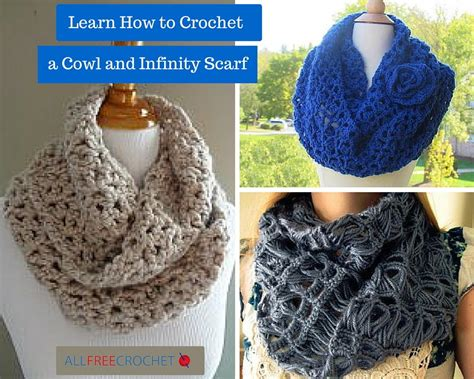 crochet infinity scarf patterns and crochet cowls 26